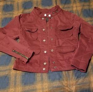 Anthropologie brand Sanctuary XS burgundy jacket
